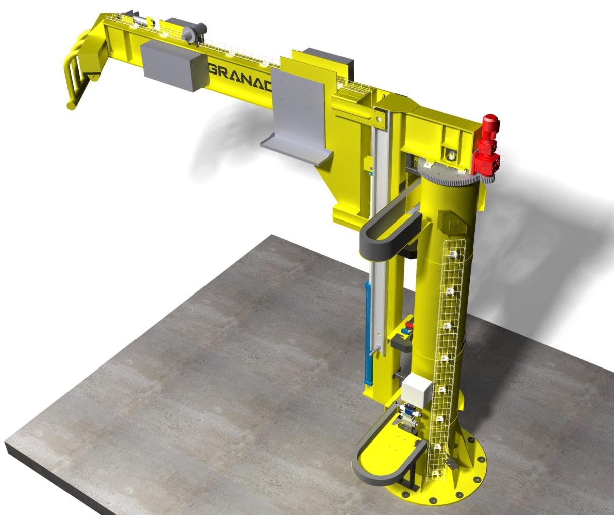 Motorized Wall Mounted Jib Crane : Siemens jib crane granada