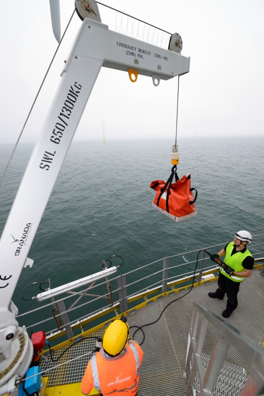 Material Handling Crane Forward Repair System : Dudgeon offshore wind farm award for granada